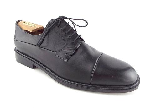 MEZLAN Black Leather Cap Toe Oxfords 12