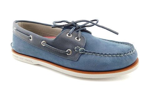 SPERRY Blue Leather Slip-on Boat Shoes 9