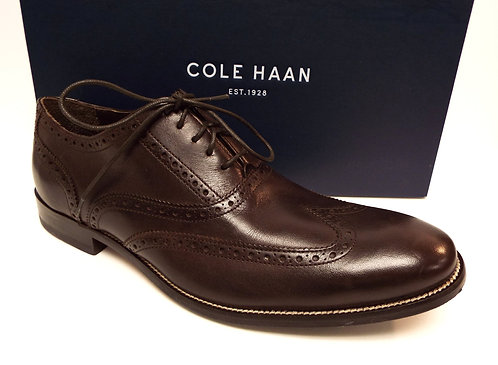 COLE HAAN Brown Leather Wingtip Oxfords 12