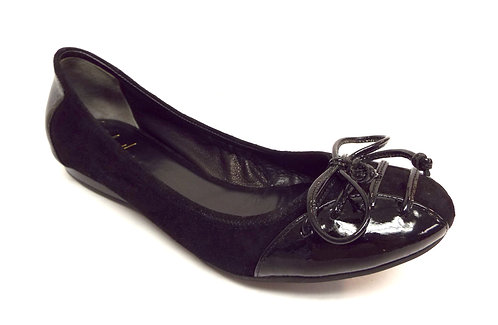 COLE HAAN Black Cross Lace Ballet Flat 6.5