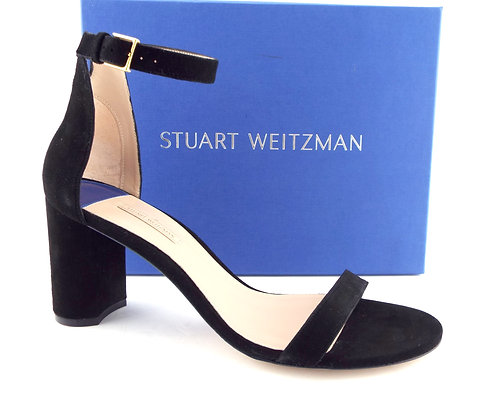 STUART WEITZMAN Black Block Heel Sandals 12
