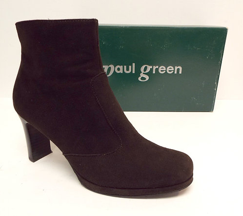 PAUL GREEN Brown Suede Ankle Boot 6.5