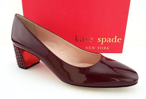KATE SPADE Burgundy Patent Heels Pumps 7.5
