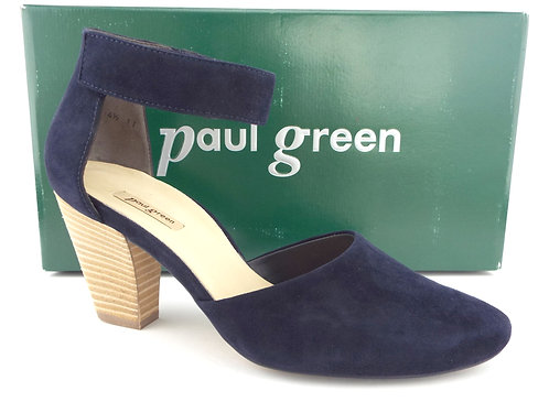 PAUL GREEN Navy Blue Suede Ankle Strap Pumps UK4.5 / US7