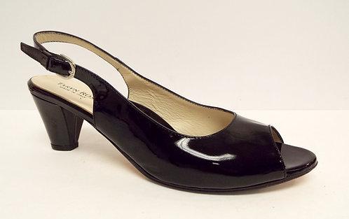 TARYN ROSE Black Patent Slingback Heels Pumps