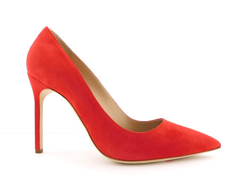 MANOLO BLAHNIK Red Suede Classic Heel Pumps 39