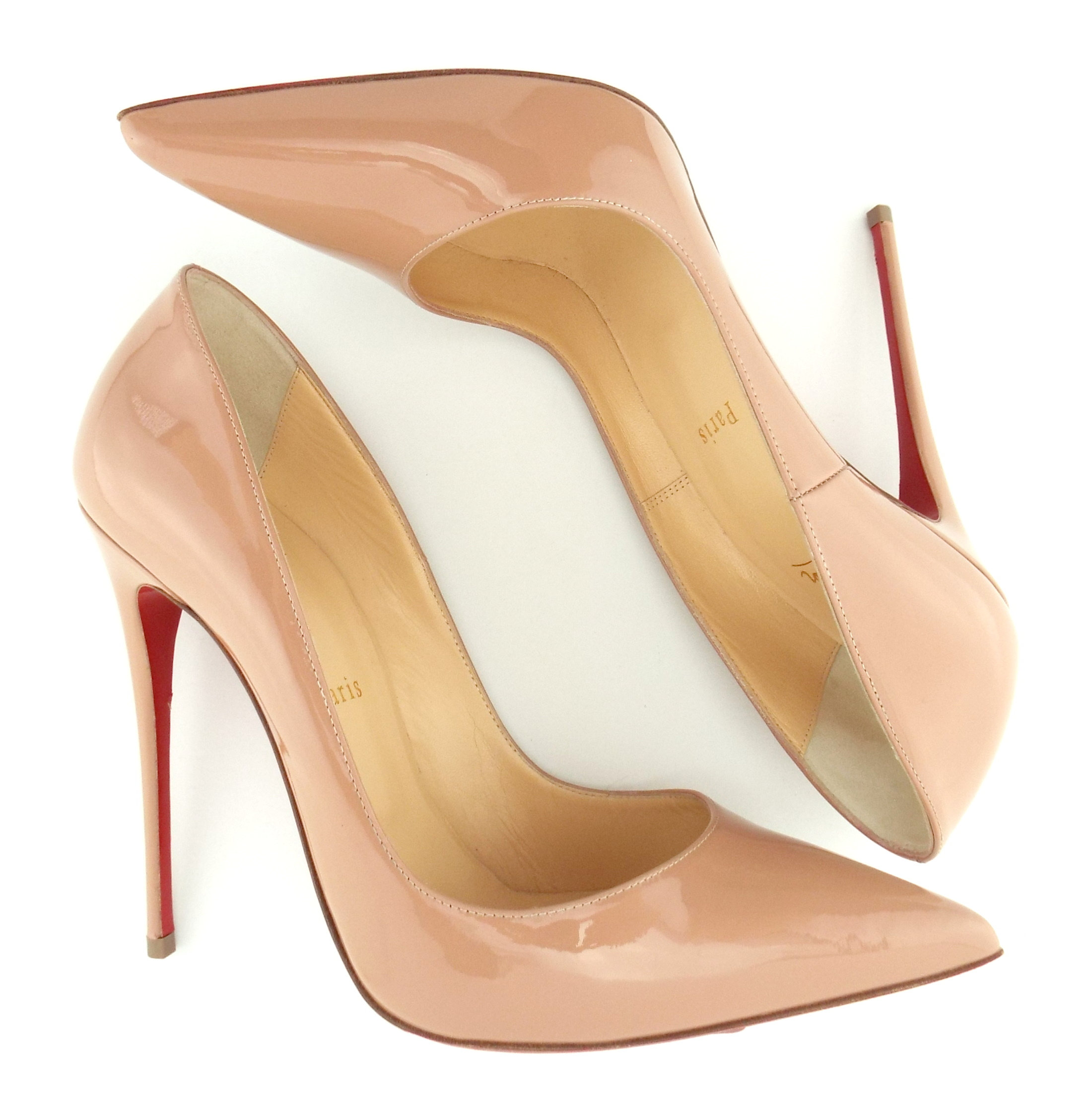 Christian Louboutin Nude Patent Pumps 39 5 Us9