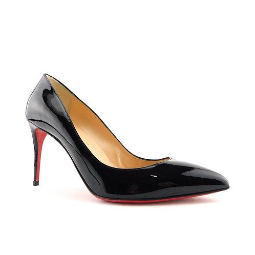 CHRISTIAN LOUBOUTIN Size 8.5 PIGALLE FOLLIES 85mm Black Heel Pumps Shoes 39 Eur
