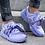 Thumbnail: PUMA RIHANNA Fenty Purple Satin Bow Sneaker 9