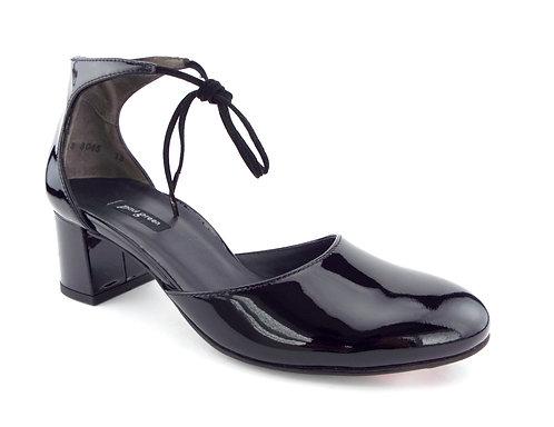 PAUL GREEN Black Patent Lace Up Pumps Heels 7.5