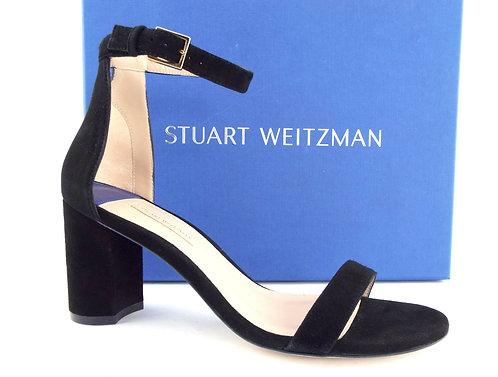 STUART WEITZMAN Black Block Heel Sandal 8.5