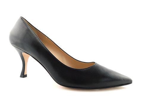 STUART WEITZMAN Black Leather Heel Pumps 9