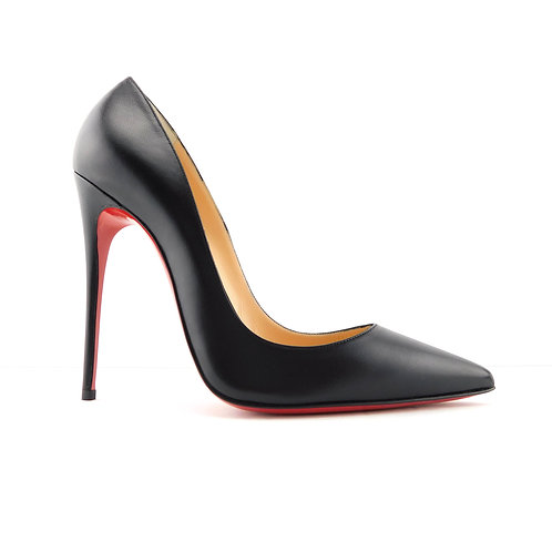 New CHRISTIAN LOUBOUTIN Size 8 SO KATE Black Kid Heels Pumps Shoes 38.5 Eur