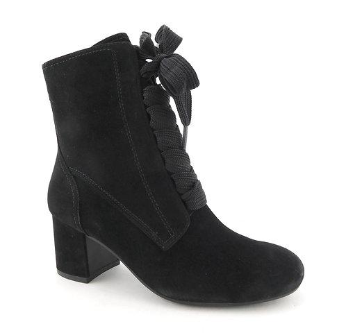 PAUL GREEN Black Zip Victorian Boots 4UK/6.5US