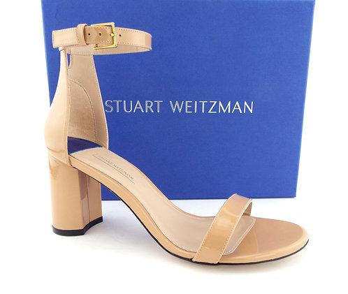 STUART WEITZMAN Adobe Patent Block Heels 9