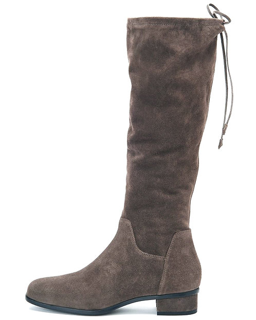 AQUATALIA Gray Suede Leather Back Tie Boots 9