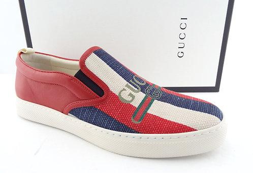 GUCCI GG Logo Bar Slip-On Sneakers 12US/11UK
