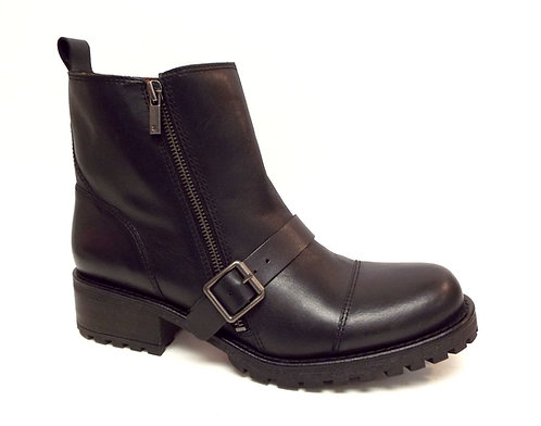 LUCKY BRAND ONDALUCIA Black Moto Ankle Boots