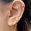 Thumbnail: Bague d'oreille et ses 3 chaines pendantes