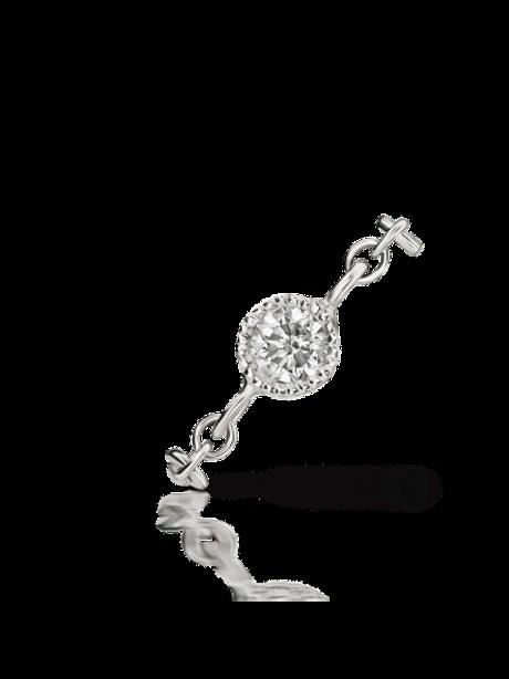 """Diamant et sa Chaîne """"double Piercing"""""""
