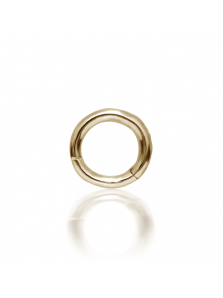 Anneau simple à clicker Or jaune - 5 mm