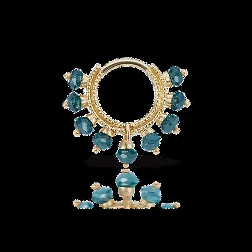 """Anneau """"Coronet"""" diamants bleus - Maria Tash"""