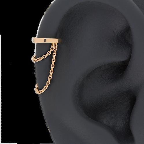 Bague d'oreille et ses 2 chaines pendantes