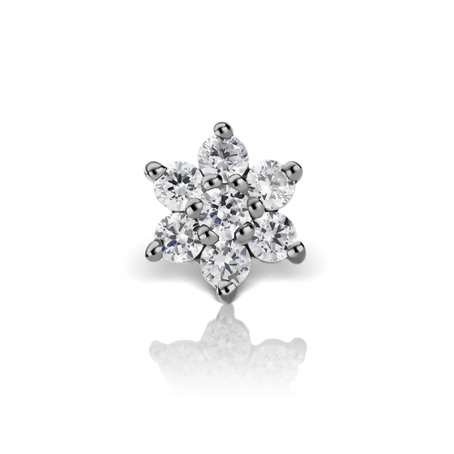 4.5mm Diamond Flower