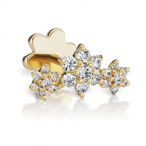 Guirlande de fleurs en diamants