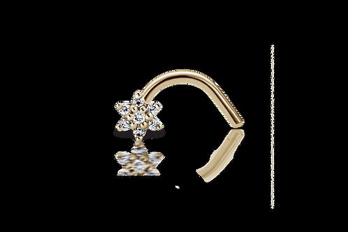Piercing de nez - fleur
