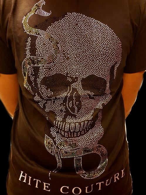 T-Shirt homme crâne serpent vert