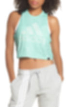 Crop Tank, Main, color, CLEAR MINT Summerwash Crop Tank ADIDAS