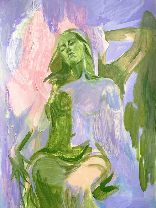 Ondine, After Gauguin by Amy Beager