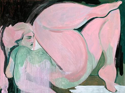 Amy Beager, Tilted, 2021, Acrylic, oil a