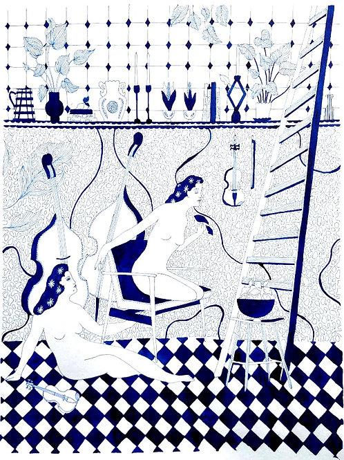 Atelier Cezanne II by Beth Rodway