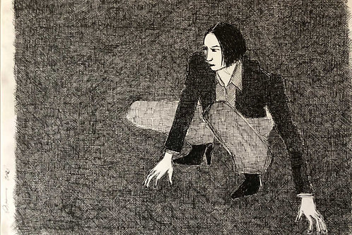 Crouch Study I by Sara Berman