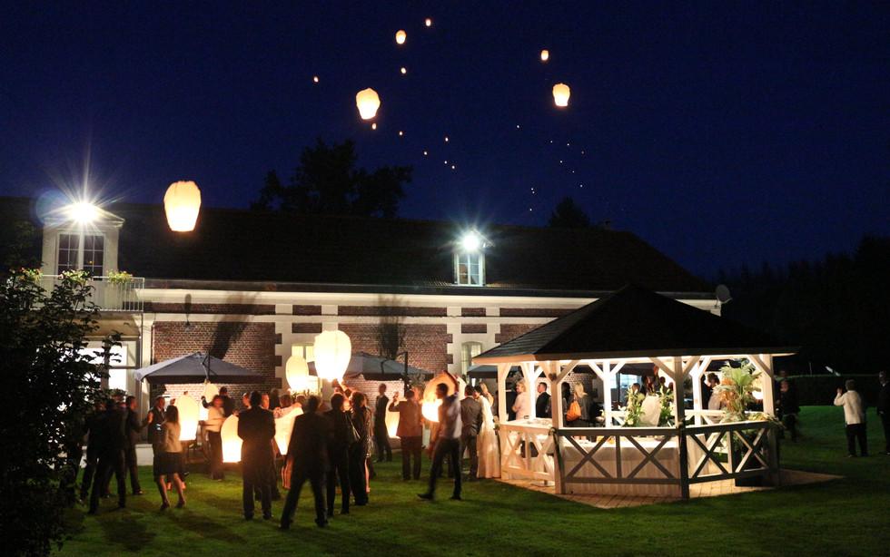 Château lacher de lanterne