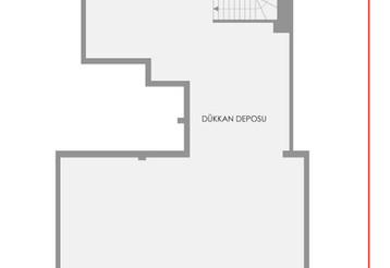 Bayramoğlu Konutları Dükkan - 2. Bodrum Kat Planı