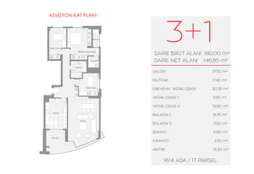 Asvizyon D1 Blok - 2. Kat No:5