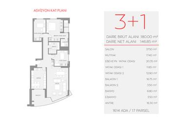 Asvizyon D1 Blok - 1. Kat No:3