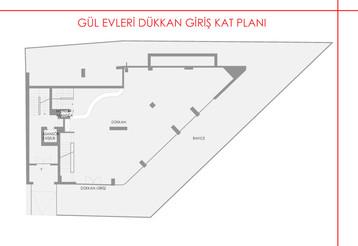Gül Evleri Dükkan - 1. Kat Planı