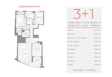 Asvizyon C1 Blok - 1.Kat No:3