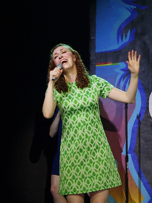 """Green Girl in """"Shout! The Mod Musical"""""""