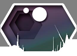 hexagonal city graphic
