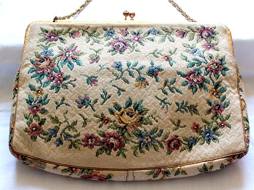 Floral Tapestry vintage Purse