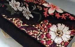 Rosy Fabric Clutch Bag