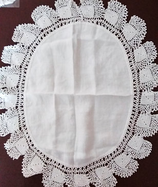 Sally- Vintage lace tray cloth