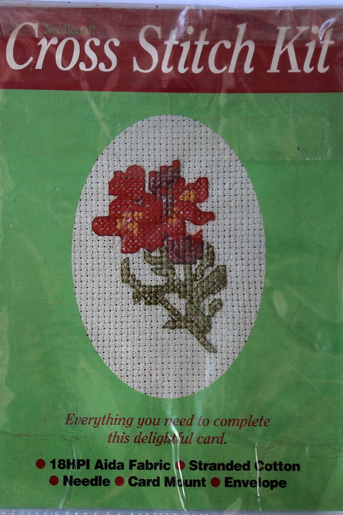 Cross Stitch Kit Dog rose