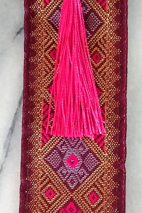 Cerise and Gold Heritage Book Mark