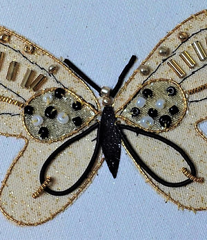 Black and Gold Butterfly Pattern